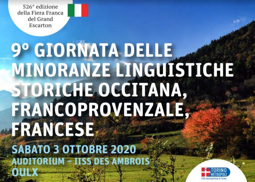 XI Giornata delle Minoranze linguistiche storiche il 3 ottobre nell'ambito della 526° edizione della Fiera Franca di Oulx